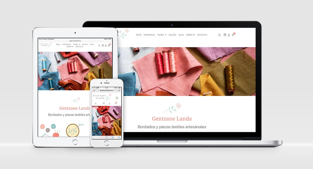 diseño web gentzanelanda.com