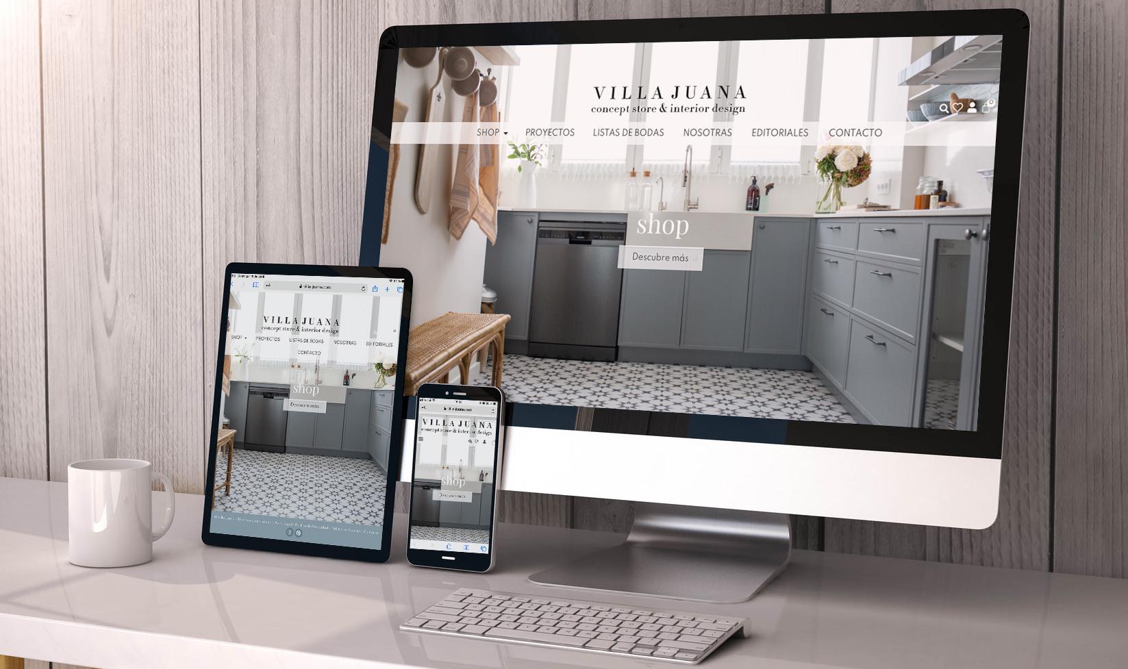 Diseño web villa-juana.com